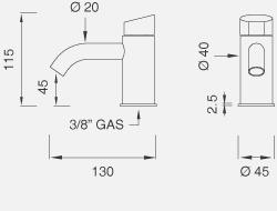 Настольный гидропрогрессивный смеситель высота 115 мм ZIQ37