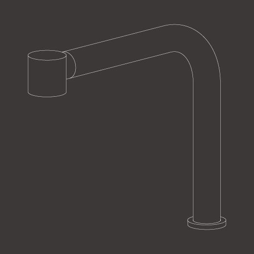Настольный вращающийся кран с выдвигающимся ручным душем. Извлекаемый кран NEU45