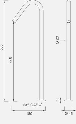 Настольный вращающийся кран с возможностью фиксации FRE72
