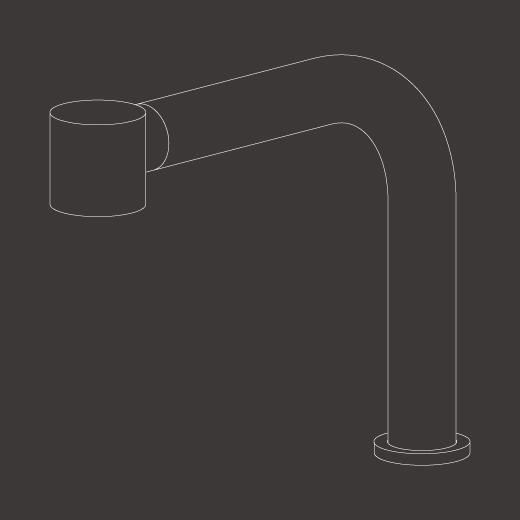 Настольный вращающийся кран с выдвигающимся ручным душем Delrin. Съемный кран для установки под окном NEU44