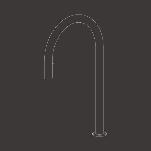 Настольный вращающийся кран с выдвигающимся ручным душем FRE143