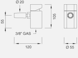 Настольный смеситель с настраиваемым краном. Высота 105 мм NEU50