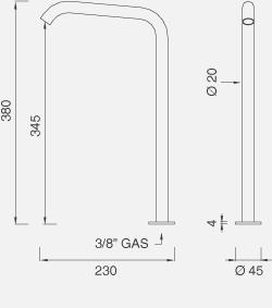 Настольный вращающийся кран с возможностью фиксации MIL112