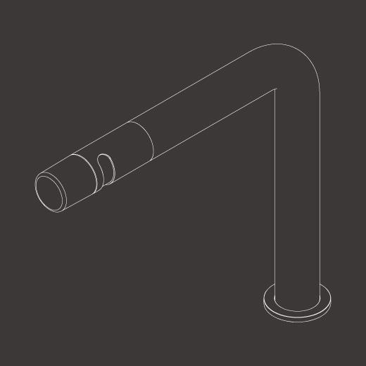 Настольный вращающийся кран с цветной ручкой Technogel. Тип струи: сильный поток UDT41